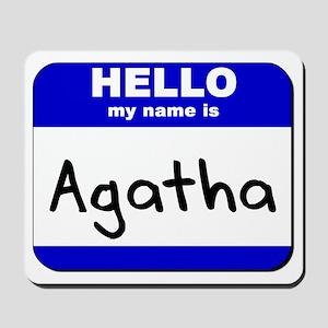 hello my name is agatha  Mousepad