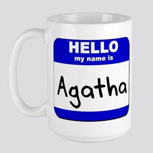 hello my name is agatha  Large Mug