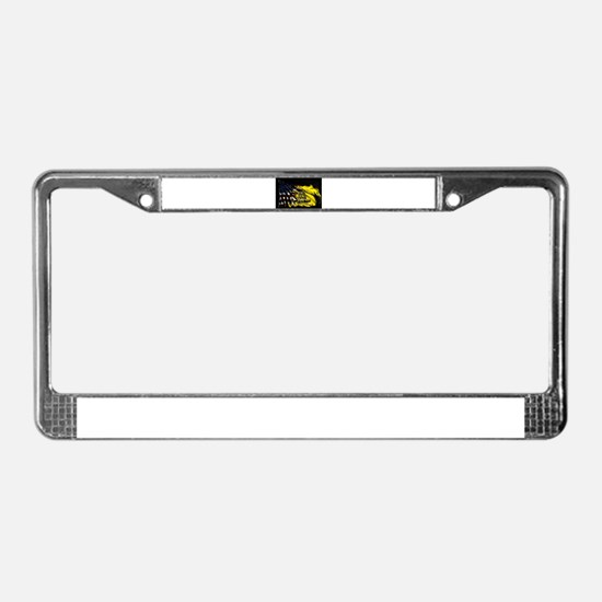 gadsden_kitchen towel License Plate Frame