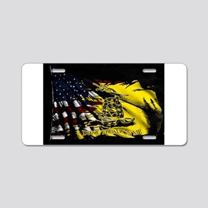 gadsden_kitchen towel Aluminum License Plate