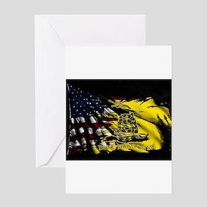 gadsden_kitchen towel Greeting Cards