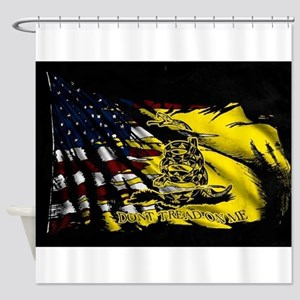 gadsden_kitchen towel Shower Curtain