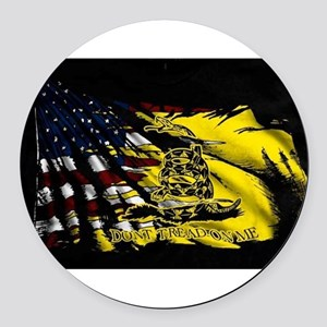 gadsden_kitchen towel Round Car Magnet