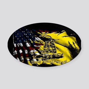 gadsden_kitchen towel Oval Car Magnet