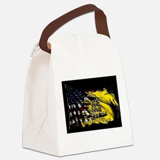 gadsden_kitchen towel Canvas Lunch Bag