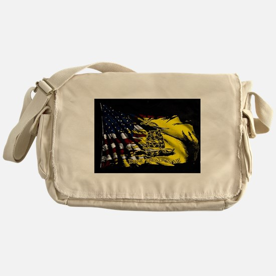 gadsden_kitchen towel Messenger Bag