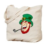 Laughing Leprechaun with Pipe Tote Bag
