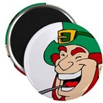 Laughing Leprechaun with Pipe Magnets