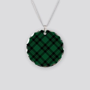 Green Plaid Pattern Necklace