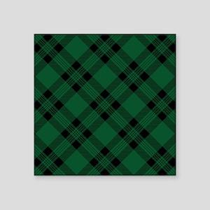 Green Plaid Pattern Sticker