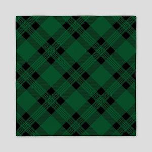 Green Plaid Pattern Queen Duvet