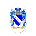 Fillis Oval Car Magnet