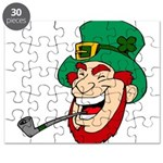 Laughing Leprechaun with Pipe Puzzle