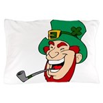 Laughing Leprechaun with Pipe Pillow Case
