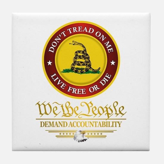 DTOM We The People Tile Coaster