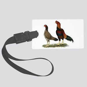 Aseel Wheaten Chickens Large Luggage Tag