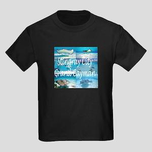 Stingray City Grand Cayman Kids Dark T-Shirt