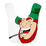 Laughing Leprechaun with Pipe Bib
