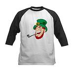 Laughing Leprechaun with Pipe Baseball Jersey