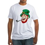 Laughing Leprechaun with Pipe T-Shirt