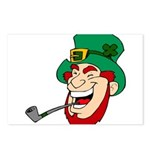 Laughing Leprechaun with Pipe Postcards (Package o