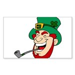Laughing Leprechaun with Pipe Sticker