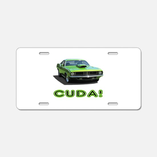 CUDA! Aluminum License Plate