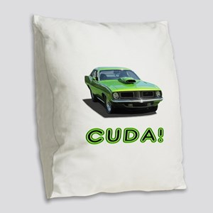 CUDA! Burlap Throw Pillow