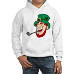 Laughing Leprechaun with Pipe Hoodie