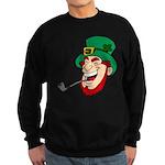 Laughing Leprechaun with Pipe Sweatshirt