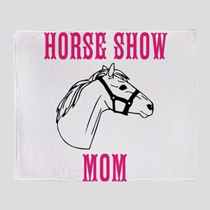 Horse Show Mom Throw Blanket