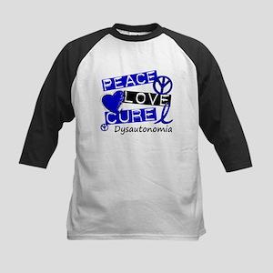 Peace Love Cure Dysautonomia Kids Baseball Jersey