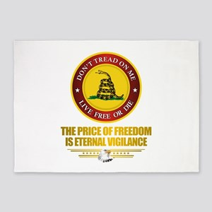 (DTOM) The Price of Freedom 5'x7'Area Rug