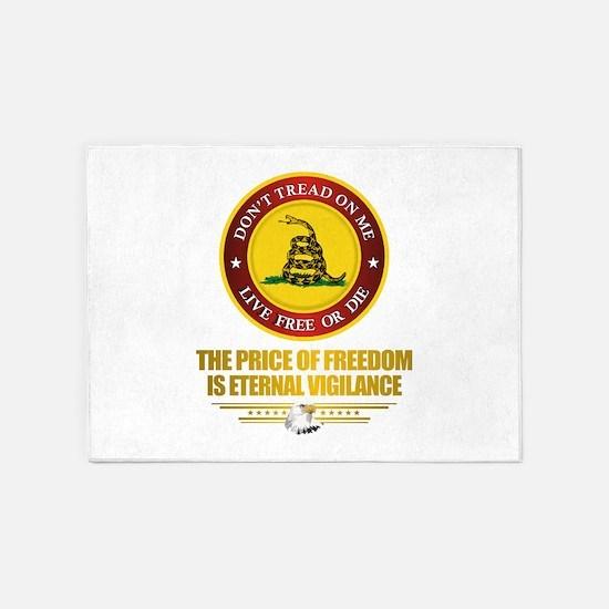 (DTOM) The Price of Freedom 5'x7'Area Rug