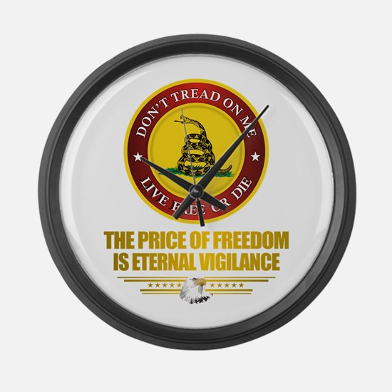 (DTOM) The Price of Freedom Large Wall Clock
