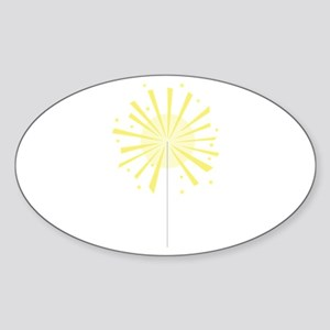 July Fourth Sparkler Firework Sticker