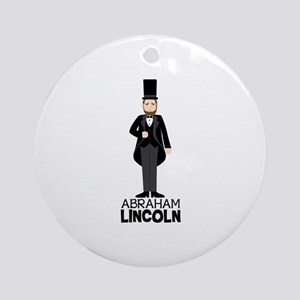 ABRAHAM LINCON Ornament (Round)