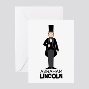 ABRAHAM LINCON Greeting Cards