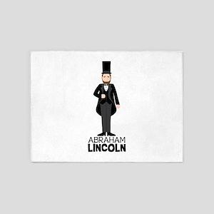 ABRAHAM LINCON 5'x7'Area Rug