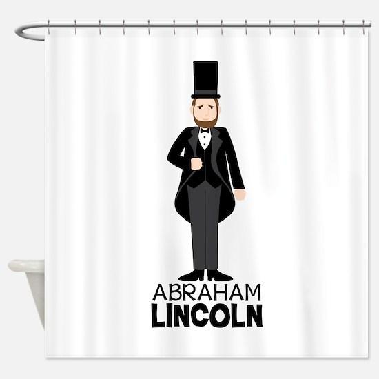 ABRAHAM LINCON Shower Curtain