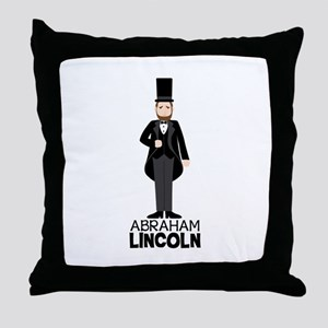 ABRAHAM LINCON Throw Pillow