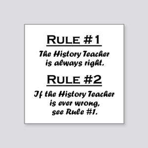 Rule History Teacher Sticker