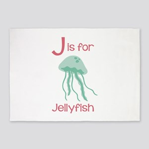 J Is For Jellyfish 5'x7'Area Rug