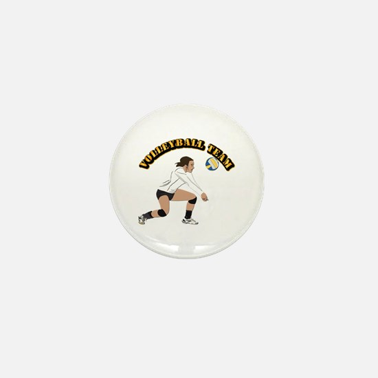 Volleyball Team Mini Button