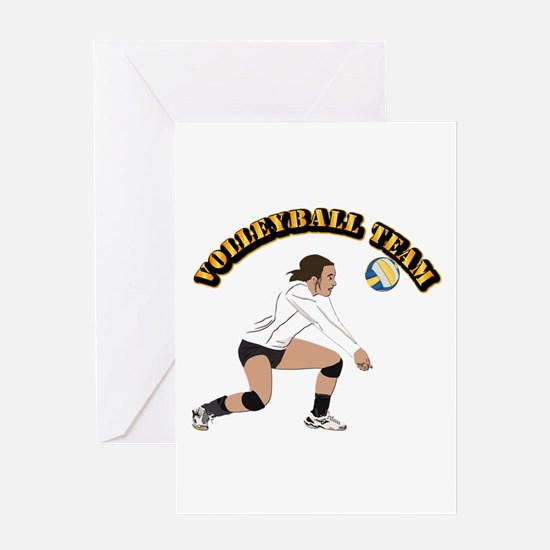 Volleyball Team Greeting Card