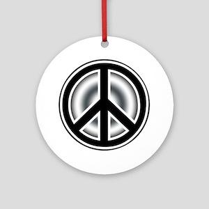 Vintage Peace symbol Ornament (Round)