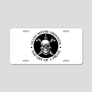 Death Before Dishonor Aluminum License Plate