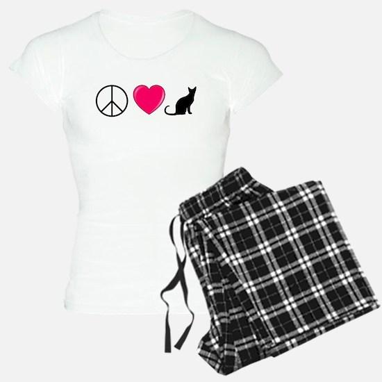 Peace Love Cats Pajamas