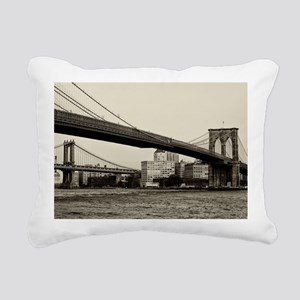 Brooklyn Bridge Photo Rectangular Canvas Pillow