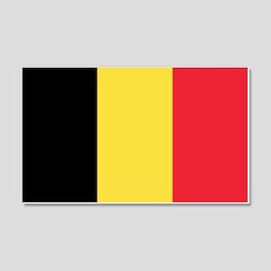Belgium Flag 20x12 Wall Decal